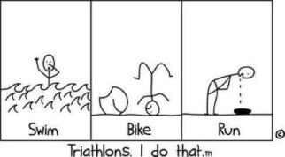 triatlon karikatuur